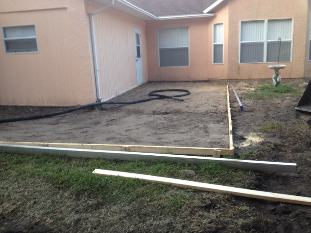 Prepping before we pour the concrete.  In Palm Bay, Florida