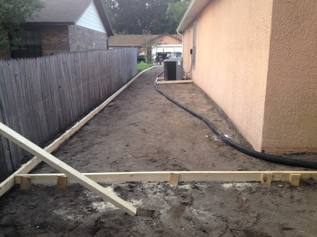 New concrete paving job in Florida.
