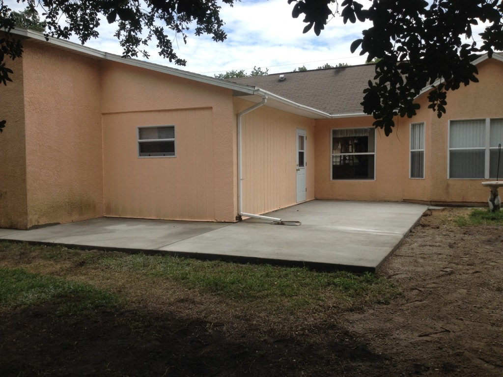 Another great concrete project in Palm Bay FL