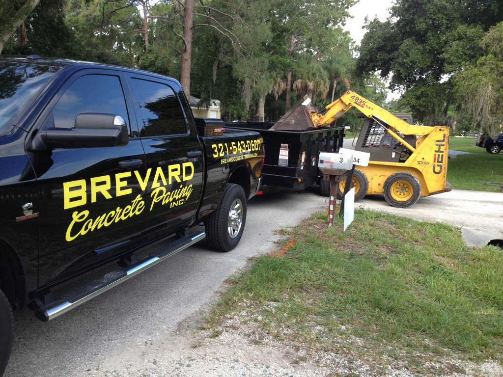 Our truck for Brevard Concrete Paving.