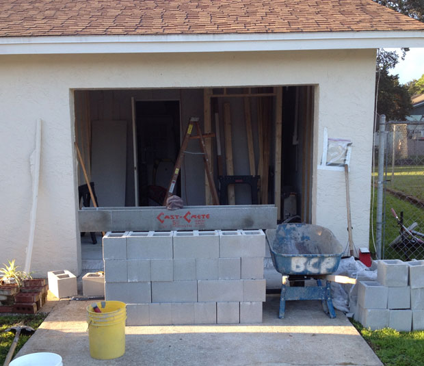Brevard Concrete Block Wall Addition 01