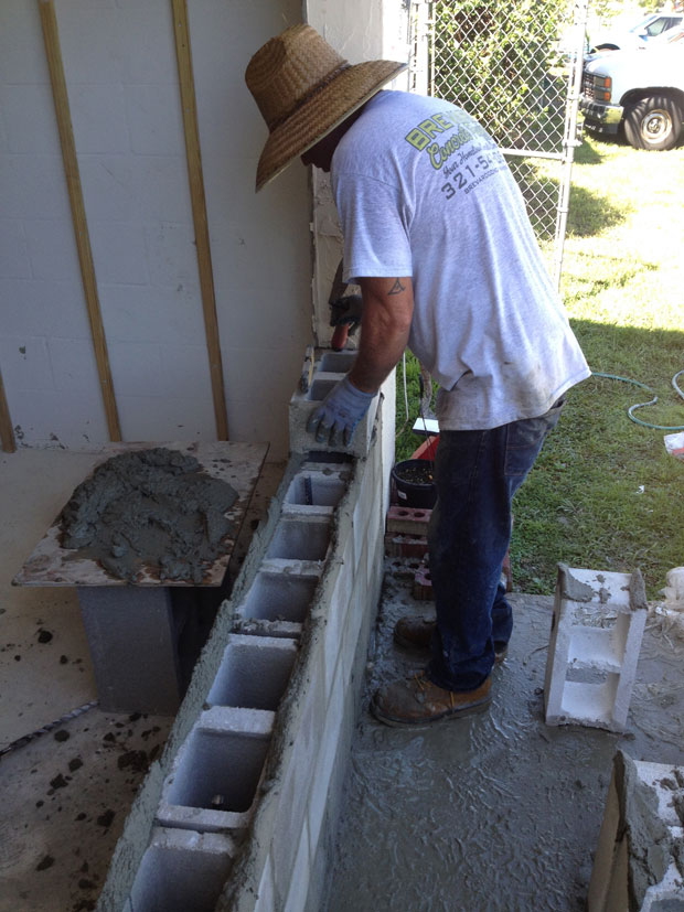 Brevard Concrete Block Wall Addition 06