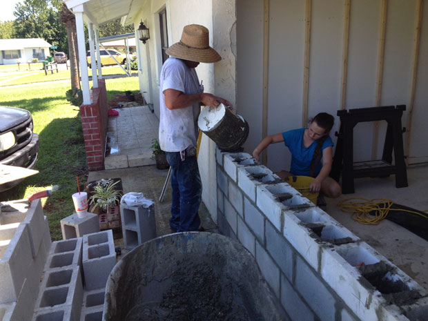 Brevard Concrete Block Wall Addition 08
