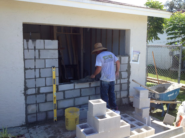 Brevard Concrete Block Wall Addition 09