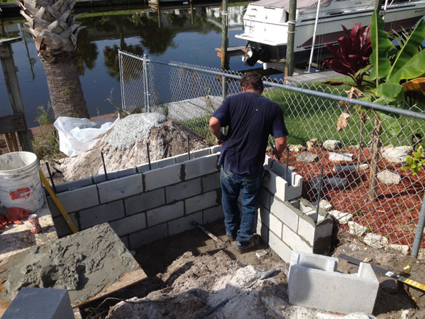 Concrete Block Retaining Wall 08