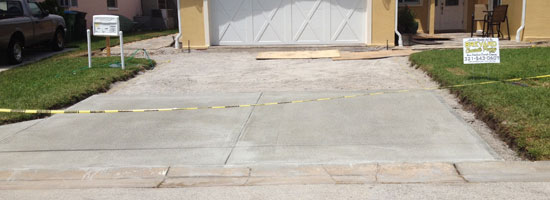 Another great concrete driveway in Cocoa Beach, Florida.