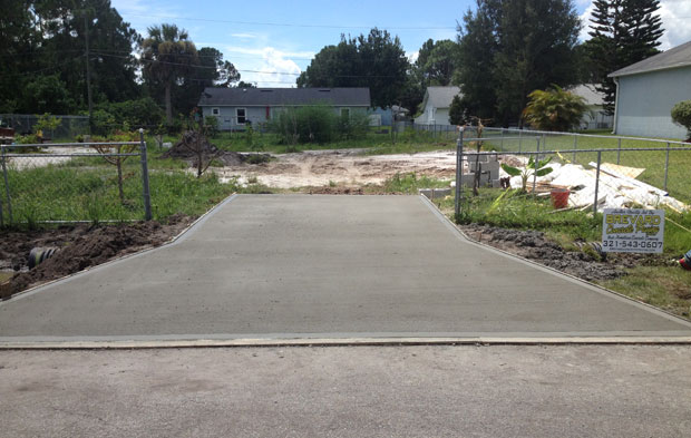 Concrete Driveway with Culvert in Palm Bay, FL 06