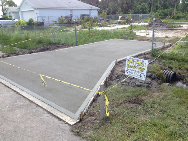 Concrete Driveway with Culvert in Palm Bay, FL 07