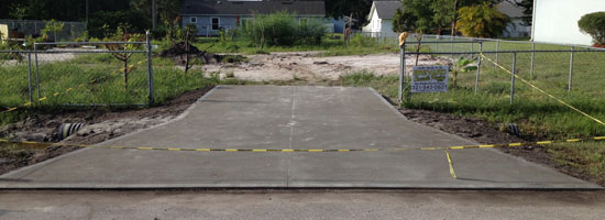 Concrete Driveway with Culvert in Palm Bay, FL