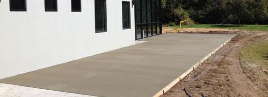 Custom Home Concrete Driveway Florida