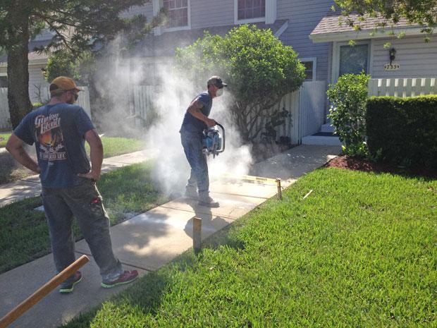 Players Club Concrete Sidewalk Repairs-01
