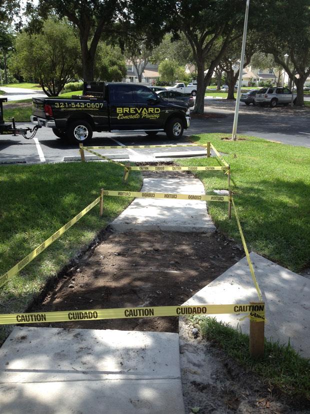 Players Club Concrete Sidewalk Repairs-04