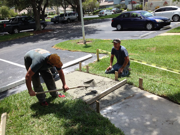 Players Club Concrete Sidewalk Repairs-05