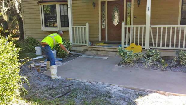 Custom Stamped Concrete Sidewalk 01