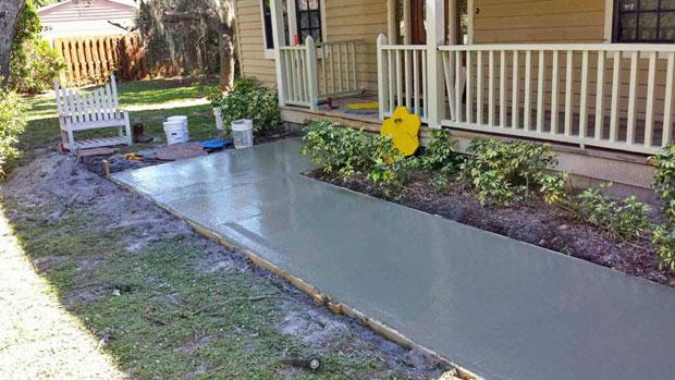 Custom Stamped Concrete Sidewalk 02