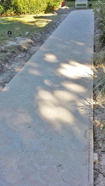 Custom Stamped Concrete Sidewalk 04