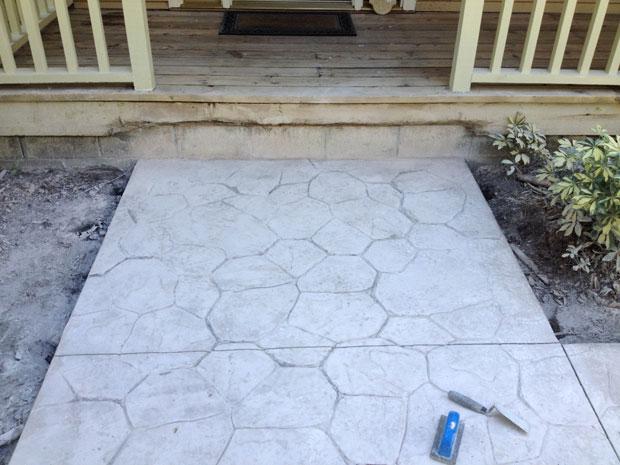 Custom Stamped Concrete Sidewalk 06