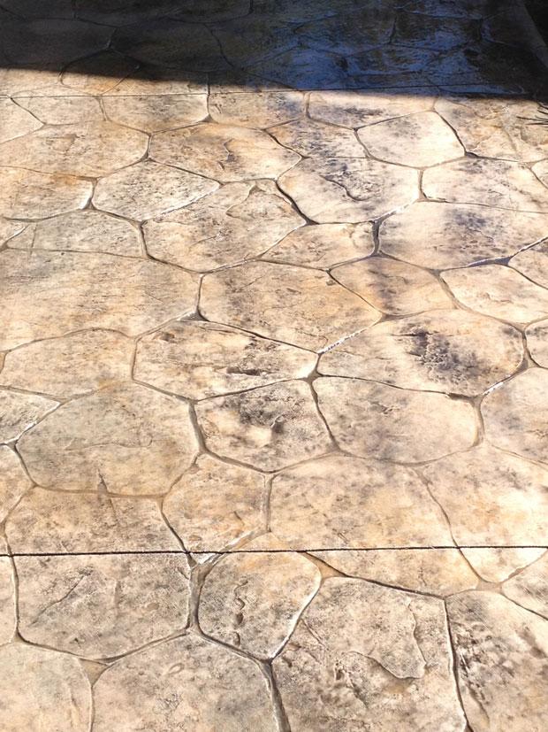 Custom Stamped Concrete Sidewalk 09