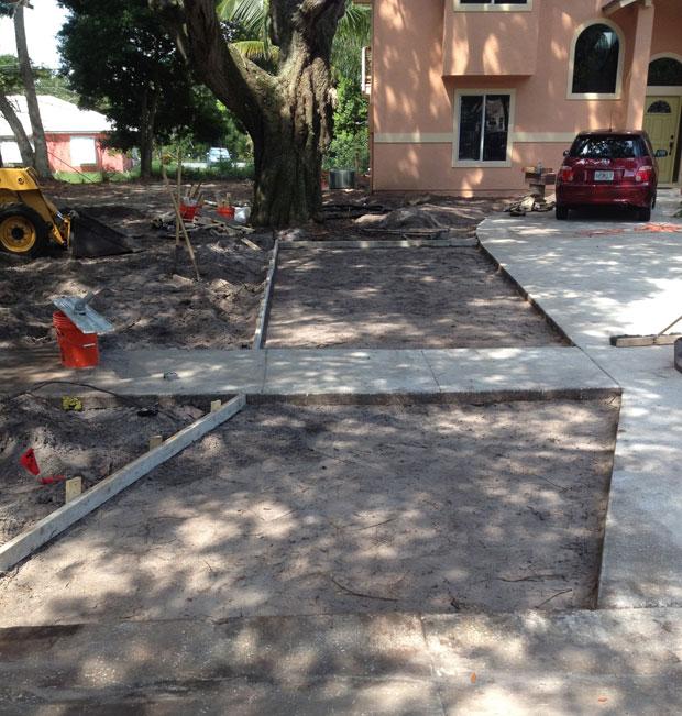 Merritt Island Concrete Driveway - 01