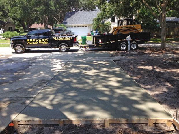 Merritt Island Concrete Driveway - 03
