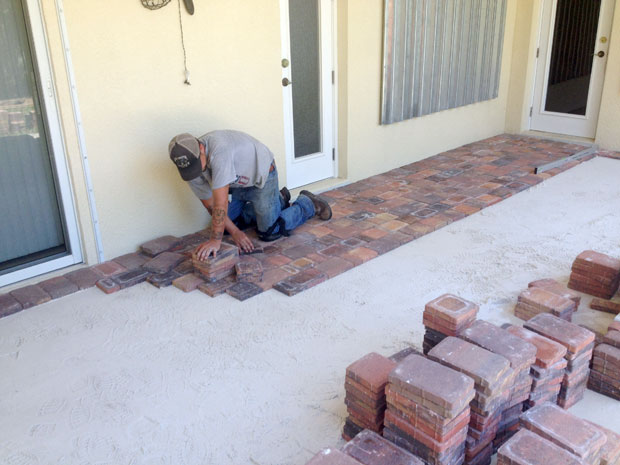 Cobblestone Brick Patio Brevard County, Florida-12