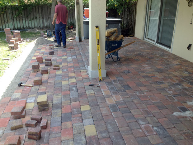 Cobblestone Brick Patio Brevard County, Florida-14