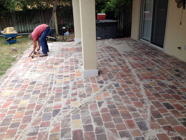 Cobblestone Brick Patio Brevard County, Florida-16