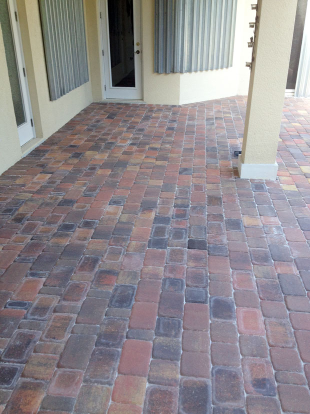 Cobblestone Brick Patio Brevard County, Florida-17
