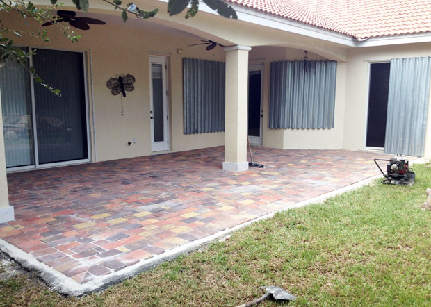 Cobblestone Brick Patio Brevard County, Florida-18