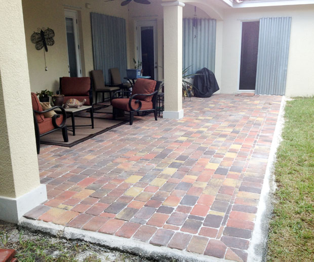 Cobblestone Brick Patio Brevard County, Florida-19