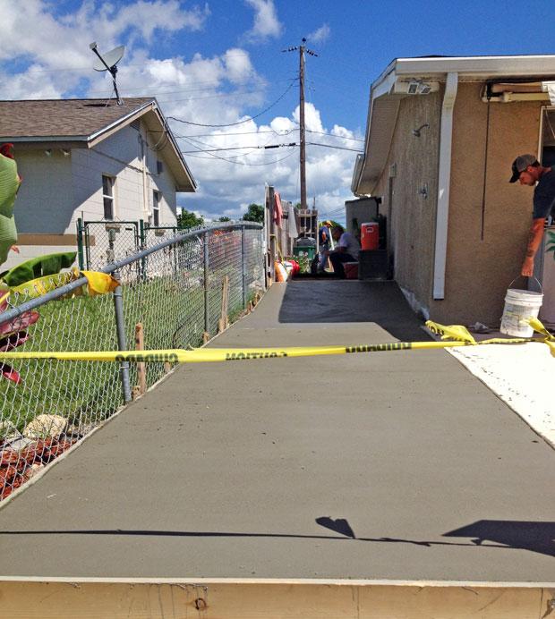 Concrete Patio Extension on Merritt Island, FL-09