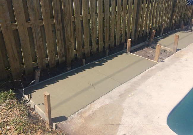 Concrete Pool Deck Extension, Melbourne, Florida