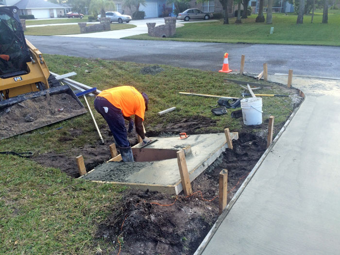 New Concrete Driveway Melbourne FL 11