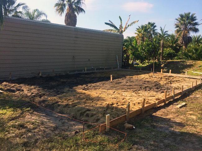 Concrete slab Merritt Island Florida - 01