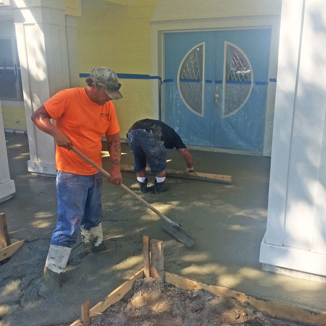 Merritt Island FL concrete sidewalk and patio - 03