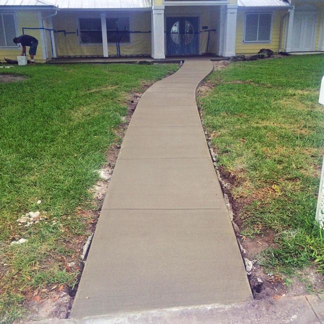Merritt Island FL concrete sidewalk and patio - 06