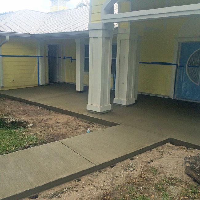 Merritt Island FL concrete sidewalk and patio - 07