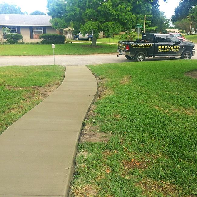 Merritt Island FL concrete sidewalk and patio - 09