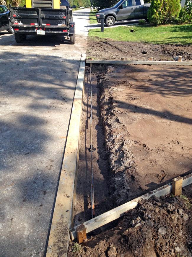 Concrete Driveway and Culvert Palm Bay, Florida 06