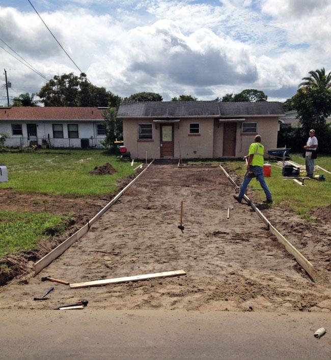 Cocoa Florida Concrete Driveway - 04