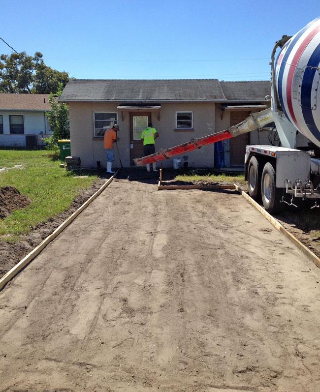 Cocoa Florida Concrete Driveway - 05
