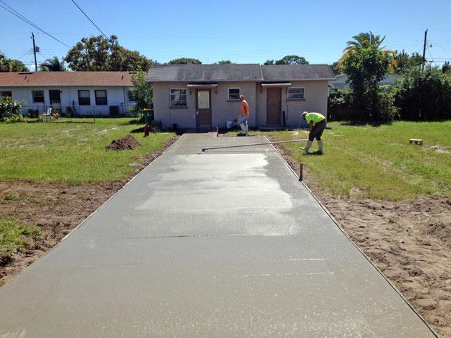 Cocoa Florida Concrete Driveway - 06