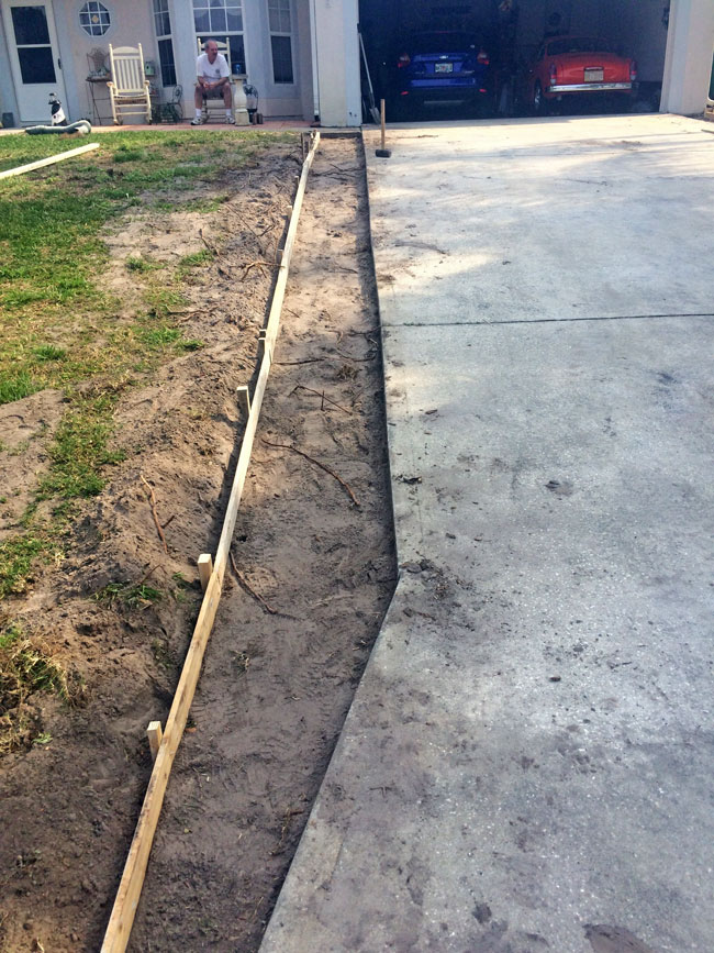 Concrete Driveway Extension Cocoa, Florida - 03