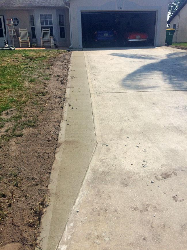 Concrete Driveway Extension Cocoa, Florida - 07