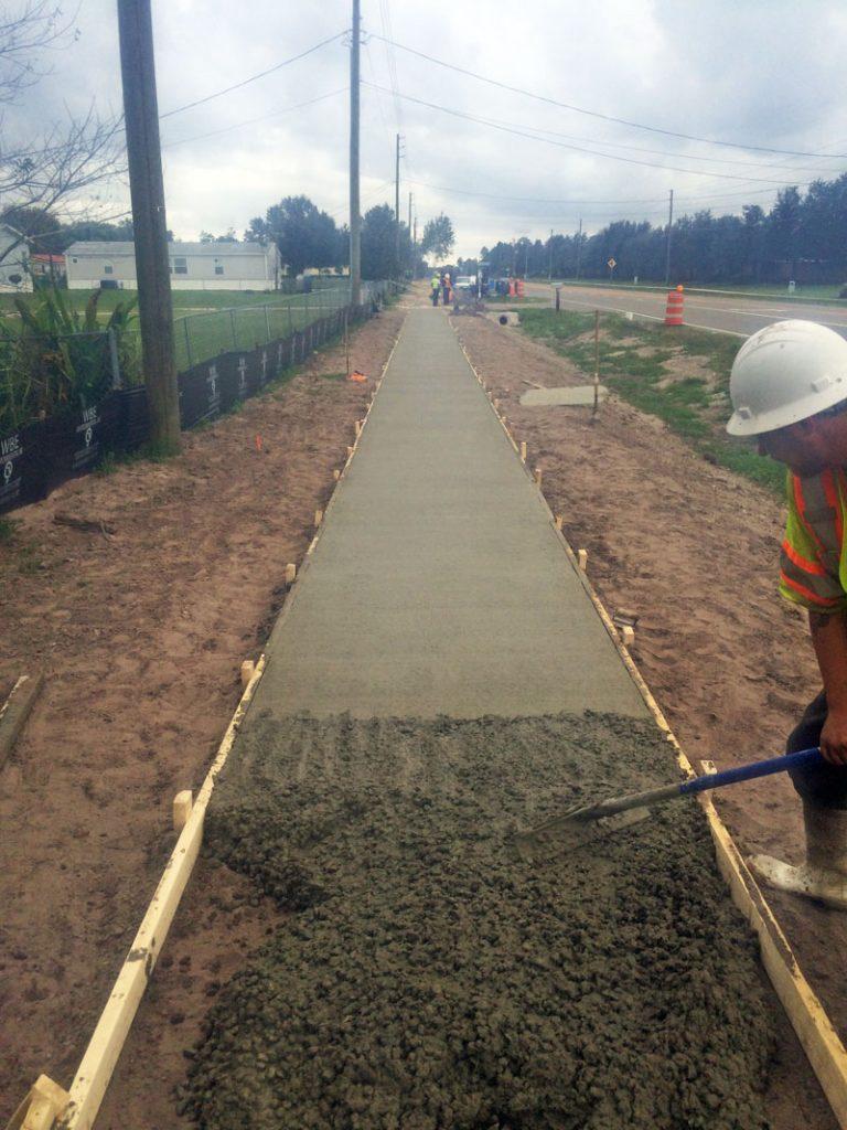 Fdot Concrete Sidewalk Brevard Concrete Paving Inc