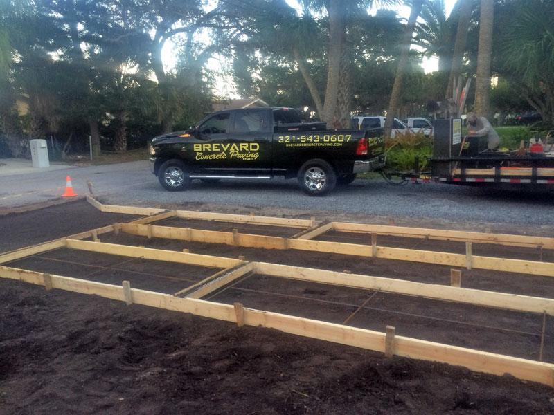 Custom Concrete Driveway Merritt Island FL - 02
