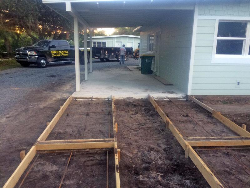 Custom Concrete Driveway Merritt Island FL - 04