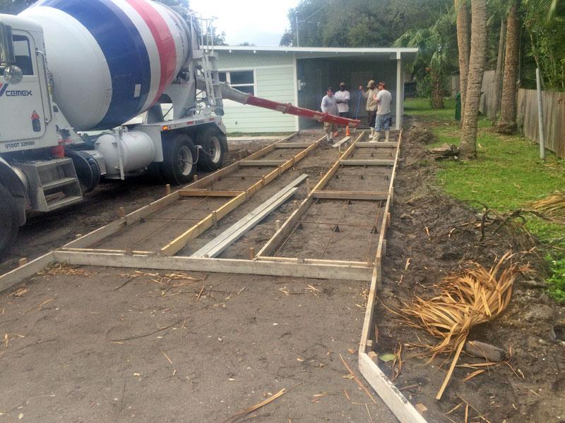 Custom Concrete Driveway Merritt Island FL - 06