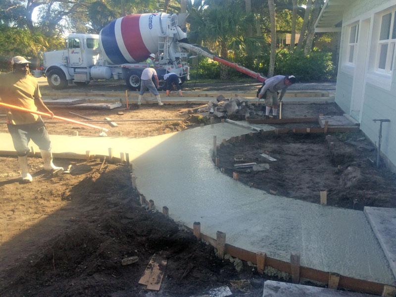 Custom Concrete Driveway Merritt Island FL - 08