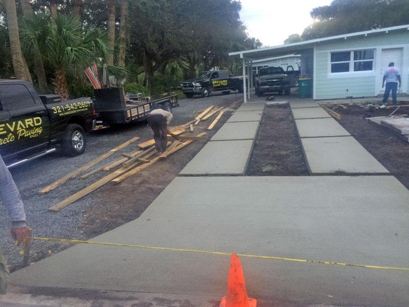 Custom Concrete Driveway Merritt Island FL - 12